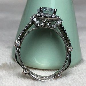 Sterling Silver Ring with Clear Jewel - Size 7